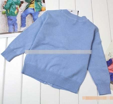 คาร์ดิแกนเด็กแขนยาว POLO สีฟ้า (5 ตัว/pack)