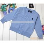 คาร์ดิแกนเด็กแขนยาว-POLO-สีฟ้า-(5-ตัว/pack)