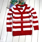 คาร์ดิแกนเด็กลายขวาง-POLO-สีแดง-(5-ตัว/pack)