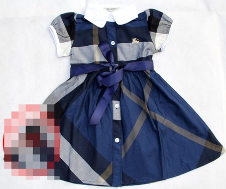 เดรสแขนตุ๊กตา Burberry สีน้ำเงิน (5 ตัว/pack)