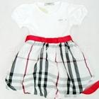 เดรสแขนสั้น-girls-splice-สีแดง-(5-ตัว/pack)