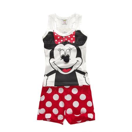 ชุดเสื้อและกางเกง Minnie Mouse สีขาว (5 ตัว/pack)