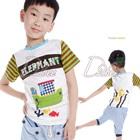 เสื้อยืดแขนสั้น-Elephant-สีขาว-(5size/pack)