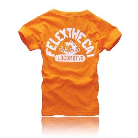 เสื้อยืดแขนสั้นลายแมว Felex สีส้ม (5 ตัว/pack)
