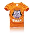 เสื้อยืดแขนสั้นลายแมว-Felex-สีส้ม-(5-ตัว/pack)