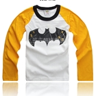 เสื้อยืดแขนยาวลาย-Batman-แขนสีเหลือง-(5-ตัว/pack)