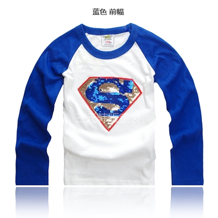 เสื้อยืดแขนยาวลาย Superman แขนน้ำเงิน (5 ตัว/pack)