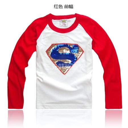 เสื้อยืดแขนยาวลาย Superman แขนสีแดง (5 ตัว/pack)