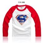 เสื้อยืดแขนยาวลาย-Superman-แขนสีแดง-(5-ตัว/pack)