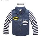 เสื้อเชิ๊ตแขนยาว-Batman-แขนสีน้ำเงิน-(5-ตัว/pack)
