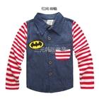 เสื้อเชิ๊ตแขนยาว-Batman-แขนสีแดง-(5-ตัว/pack)