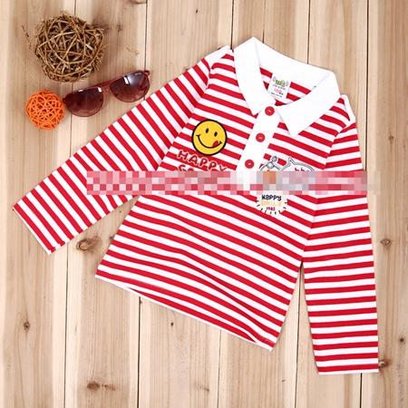 เสื้อแขนยาว Happy Smile สีแดง (5 ตัว/pack)