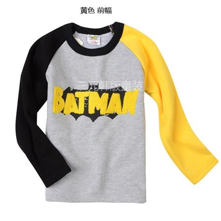 เสื้อแขนยาว Batman แขนสีดำเหลือง (5 ตัว/pack)