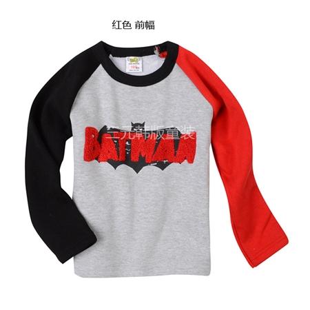 เสื้อแขนยาว Batman แขนสีดำแดง (5 ตัว/pack)