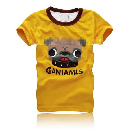 เสื้อยืดแขนสั้น CANIAMLS สีเหลือง (5 ตัว/pack)