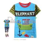 เสื้อยืดแขนสั้น-Elephant-สีฟ้า-(5size/pack)