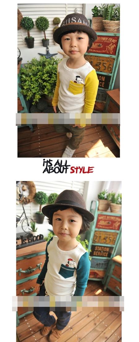 เสื้อแขนยาว Snoopy แขนสีเหลือง (5 ตัว/pack)