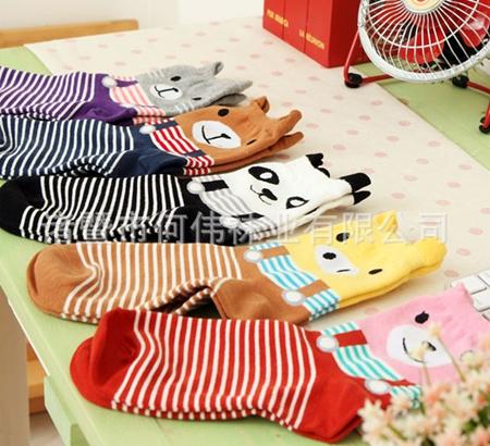 ถุงเท้าเด็กลายสัตว์ต่างๆ คละสีคละแบบ(20 คู่ /pack)