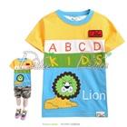 เสื้อยืดแขนสั้น-Lion-สีเหลืองฟ้า-(5size/pack)