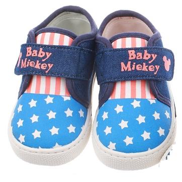 รองเท้าเด็ก Baby Miekey สีฟ้าสว่าง (5 คู่/แพ็ค)