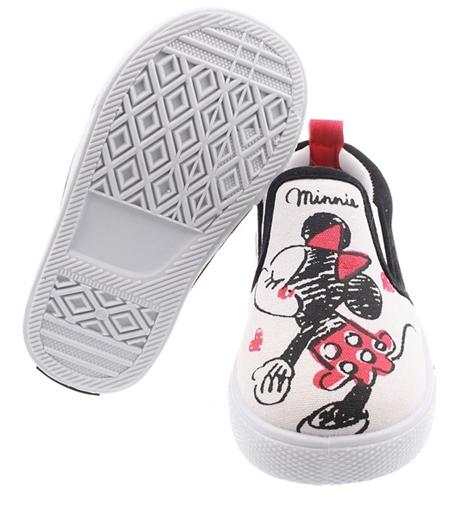 รองเท้าเด็ก Micky Minnie สีขาว (9 คู่/แพ็ค)