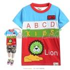 เสื้อยืดแขนสั้น-Lion-สีฟ้าแดง-(5size/pack)