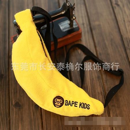 กระเป๋าสะพายกล้วย Bape Kids สีเหลือง (5 ใบ/pack)