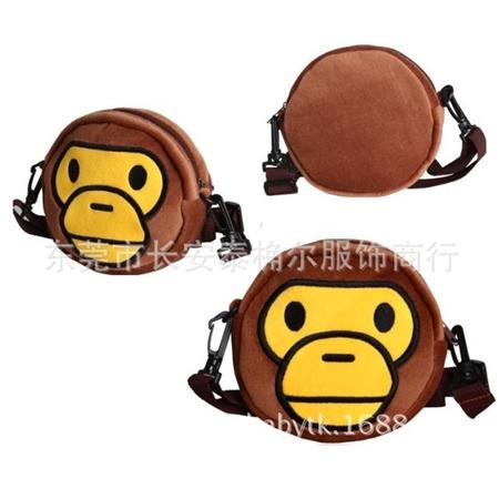 กระเป๋าสะพายลิง Bape Kids สีน้ำตาล (5 ใบ/pack)