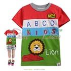 เสื้อยืดแขนสั้น-Lion-สีแดงเขียว-(5size/pack)