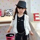 เสื้อคลุมเด็กแขนยาวลูกไม้-สีขาว-(5-ตัว/pack)