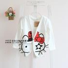 เสื้อคลุมเด็กแขนยาว-Hello-Kitty-สีขาว-(5-ตัว/pack)