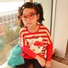 เสื้อแขนยาวลายขวาง-Hello-Kitty-สีแดง-(5-ตัว/pack)