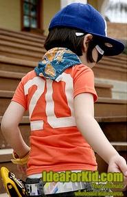 เสื้อยืดคอกลม Franbly สีส้ม   (5size/pack)
