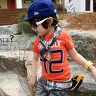เสื้อยืดคอกลม-Franbly-สีส้ม---(5size/pack)