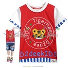 เสื้อยืดแขนสั้น-The-Tiger-สีแดง-(5size/pack)
