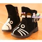 รองเท้าแมวเหมียว-สีดำ(ไซส์-31-36)(6-คู่/แพ็ค)