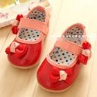 รองเท้าเด็กโบว์เก๋ๆ-สีแดง-(5-คู่/แพ็ค)