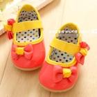 รองเท้าเด็กโบว์เก๋ๆ-สีส้ม-(5-คู่/แพ็ค)
