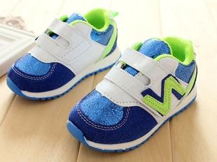 รองเท้าผ้าใบ N สีน้ำเงินขาว (5 คู่/แพ็ค)