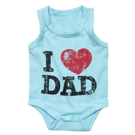 บอดี้สูท I Love Dad สีฟ้า (8 ตัว/pack)