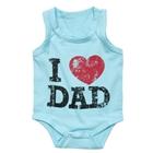บอดี้สูท-I-Love-Dad-สีฟ้า-(8-ตัว/pack)