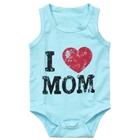 บอดี้สูท-I-Love-Mom-สีฟ้า-(8-ตัว/pack)
