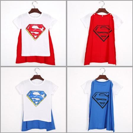 เสื้อแขนสั้น Superman สีแดง (6 ตัว/pack)