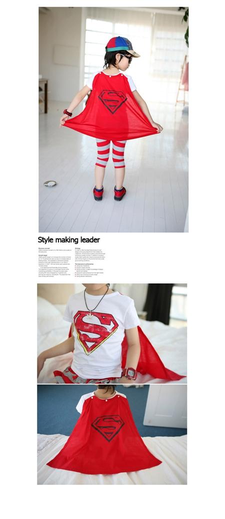 เสื้อแขนสั้น Superman สีน้ำเงิน (6 ตัว/pack)