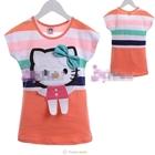เสื้อแขนสั้น-Hello-Kitty-สีส้ม-(5size/pack)