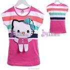 เสื้อแขนสั้น-Hello-Kitty-สีบานเย็น-(5size/pack)