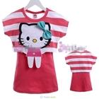 เสื้อแขนสั้น-Hello-Kitty-สีแดงแตงโม-(5size/pack)