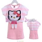 เสื้อแขนสั้น-Hello-Kitty-สีชมพู-(5size/pack)