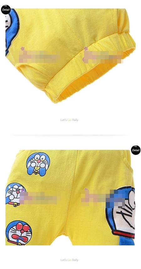กางเกงขาสั้นโดราเอมอน สีเหลือง (6size/pack)