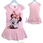 ชุดเดรสแขนสั้น-Minnie-Mouse-สีชมพู-(5size/pack)